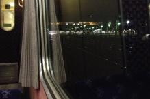 Leaving London on the sleeper train
