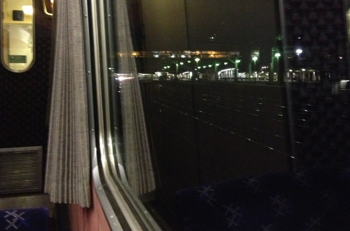 Leaving London on the sleeper train