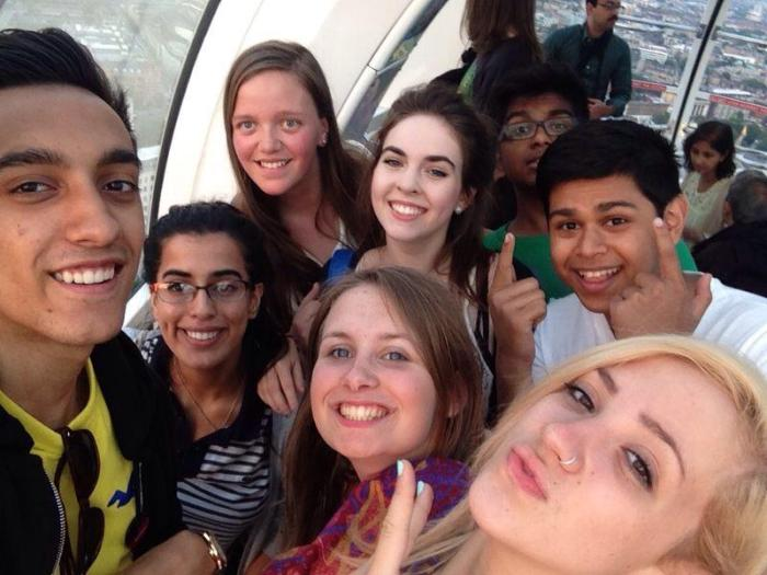 Summer School participants on the London Eye (with thanks to Hayleigh for the image)