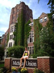 Alex at the University of Michigan