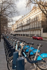 'Boris Bikes' close to the history department