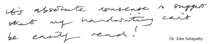 John writing